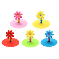 Multicolor Sunflower Dustproof Reusable Silicone Anti-dust Cap Cup Lid DIY Leakproof Cover Insulation Cup Cover preview-2