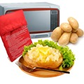1Pcs Red Washable Cooker Bag Microwave Baking Potatoes Bag Rice Pocket Cooking Tools Easy To Cook Kitchen Gadgets Baking Tool preview-2