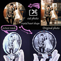 Customized Round Shape Crystal Glass Photo Frame Personalized Picture Frame Photo Album For Birthday Friends Gifts Home Decor preview-3