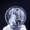 Customized Round Shape Crystal Glass Photo Frame Personalized Picture Frame Photo Album For Birthday Friends Gifts Home Decor preview-4