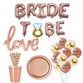 1set Bride To Be LED Balloons Sash Paper Banner Cup Straw Plates Bachelorette Party Bridal Shower Hen Party Wedding Decoration preview-3