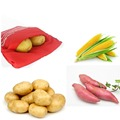 1Pcs Red Washable Cooker Bag Microwave Baking Potatoes Bag Rice Pocket Cooking Tools Easy To Cook Kitchen Gadgets Baking Tool preview-3