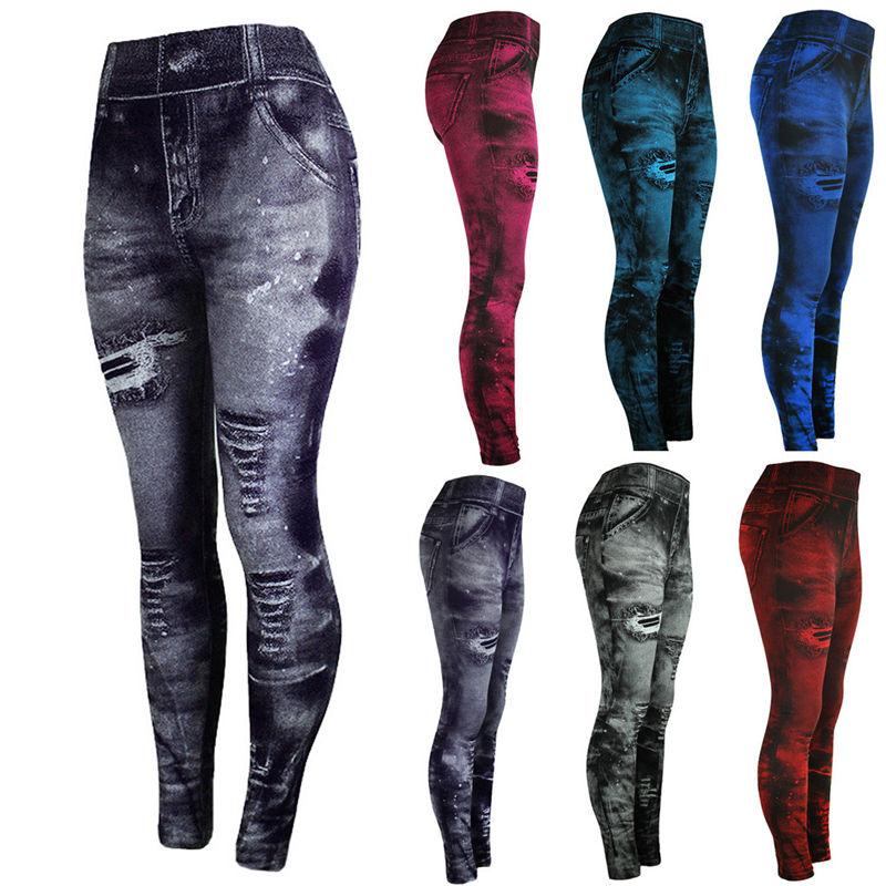 Jeans Bottom Pants Coloured Hip-up Super Bomb Slim Nine-minute Pants Tight Elasticity Pants Pantalones Mujer