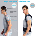 Posture Corrector for Men and Women Back Posture Brace Clavicle Support Stop Slouching and Hunching Adjustable Back Trainer preview-2