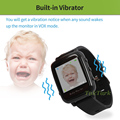 Wireless Video Watch Style Baby Monitor Portable shock vibration Baby Nanny Cry Alarm Camera Night Vision Temperature Monitoring preview-3