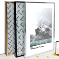 Picture Frame Metal Poster Frame Classic Aluminum Photo Frames For Wall Hanging A3 A4 30x30 Certificate Frame VCC preview-1