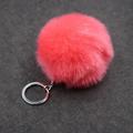 Christmas Gift Artificial Rabbit Fur Ball Plush Fuzzy Fur Key Chain POM POM Keychain Car Bag Keychain Key Ring Pendant Jewelry preview-4