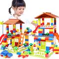 Classic Big Size Building Blocks House Roof Big Particle Assembly Construction Block Plastic Castle DIY Bricks Toys For Children preview-1