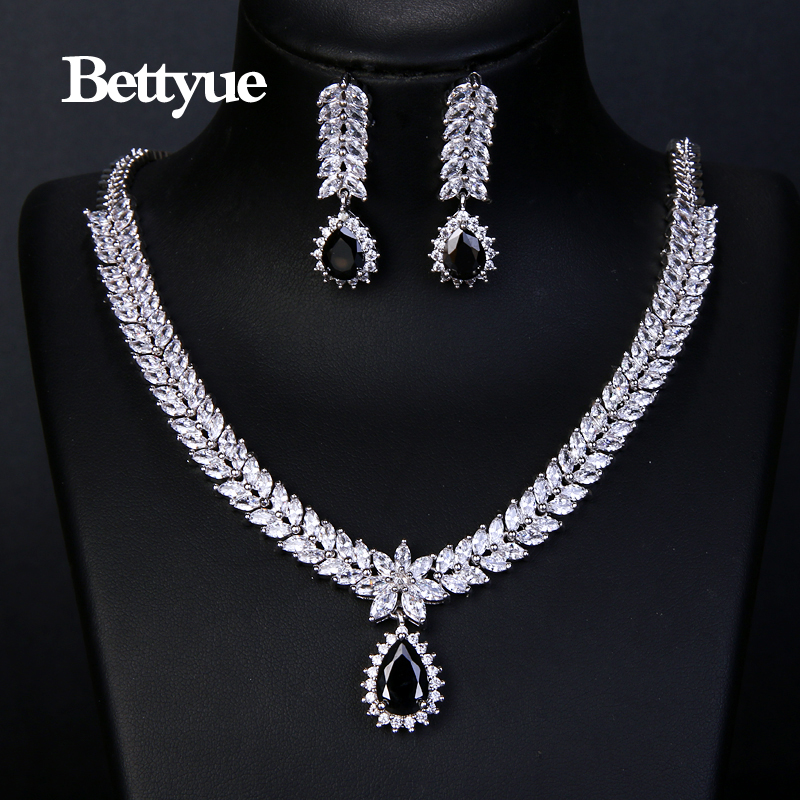Bettyue Charming Fashion Elegance Cubic Zircon Multicolor Europe And America Style Wholesale Jewelry Sets Women Noble Ornament