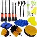 Detailing Brush Set Car Cleaning Brushes Power Scrubber Drill Brush For Car Leather Air Vents Rim Cleaning Dirt Dust Clean Tools preview-1
