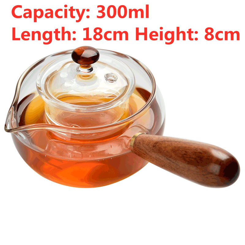 High Quality Borosilicate Glass Teapot Green Tea Heat Resistant Tea Kettle Creative Coffee Pot Sets With Infuser Strainer preview-6