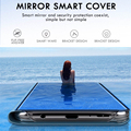 Smart Mirror Flip Phone Case For Samsung Galaxy A12 A52 S21 S10 S9 S8 S20 FE Ultra Note 20 10 Lite 9 8 Plus S7 S10e Edge Cover preview-2