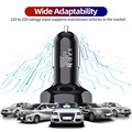USLION 4 Ports USB Car Charge 48W Quick 7A Mini Fast Charging For iPhone 11 Xiaomi Huawei Mobile Phone Charger Adapter in Car preview-6