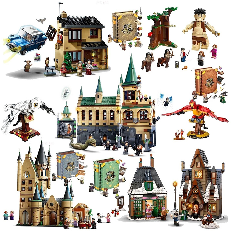 2021 New Harris Forbidden Forest Umbridge's Encounter Tower 4 Privet Drive Attack on The Burrow Hedwig Building Blocks Toys