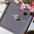 Fashion Luxury Crystal Engagement Ring for Women AAA White Cubic Zirconia Silver color Rings 2020 Wedding Trend Female Jewerly preview-4