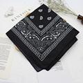 Bandana kerchief Unisex Hip Hop Black Hair Band Neck Scarf Sports Headwear Wrist Wraps Head Square Scarves Print Handkerchief preview-4
