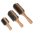Men Boar Bristle Hair Brush - Natural Wooden Wave Brush for Male, Styling Beard Hairbrush for Short,Long,Thick,Curly,Wavy Hair preview-2