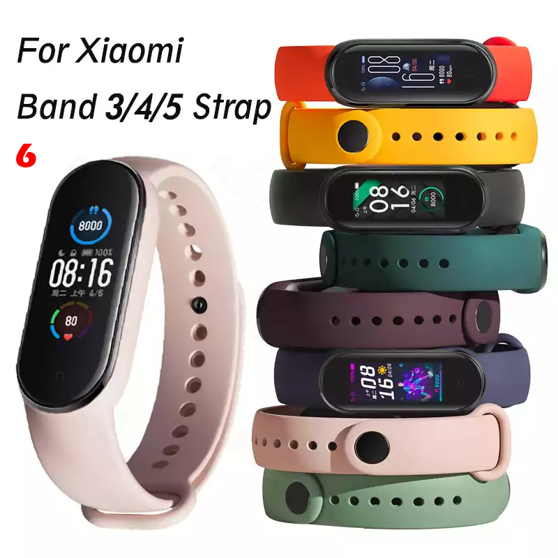 Strap For Xiaomi Mi Band 5 4 3 Silicone Wristband belt Bracelet Replacement Wrist Color TPU For Xiaomi Band 6 MiBand 4 3 5 Strap