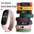 Strap For Xiaomi Mi Band 5 4 3 Silicone Wristband belt Bracelet Replacement Wrist Color TPU For Xiaomi Band 6 MiBand 4 3 5 Strap preview-1