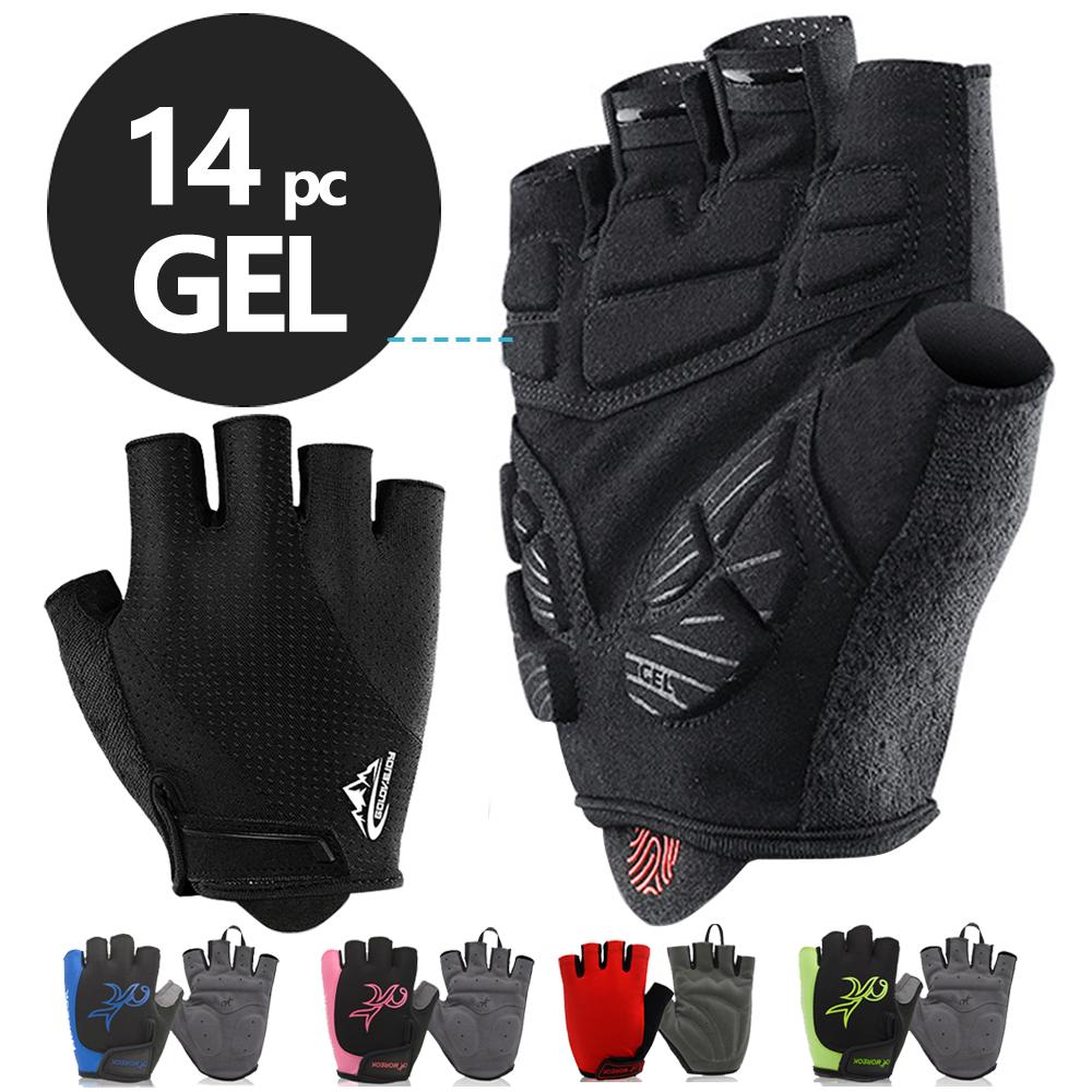NEWBOLER Shockproof GEL Pad Cycling Gloves Half Finger Sport Gloves Men Women Summer Bicycle Gym Fitness Gloves MTB Bike Gloves