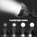 Powerful LED Flashlight Portable XHP70.2 Torch USB Rechargeable Searchlight Waterproof Spotlight with Base Fishing Light Lantern preview-3