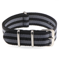 18mm 20mm  NATO Army Sports brand Nylon fabric belt accessories belt buckle bands 007, James bond. black 20mm watch strap preview-5