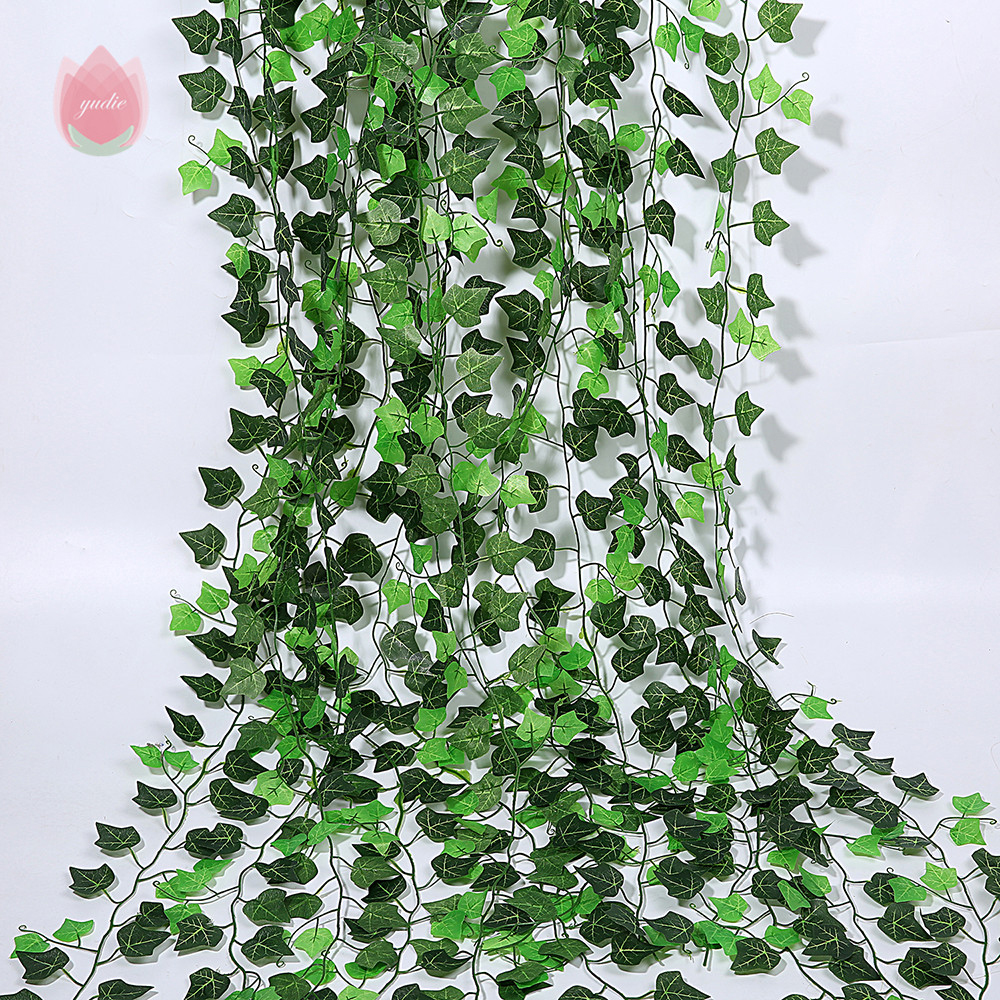 1Pc 230Cm Green Vine Silk Artificial Ivy Hanging Leaf Garland Plants Creeper Leaf Home Decor Wedding Bathroom Garden Decoration