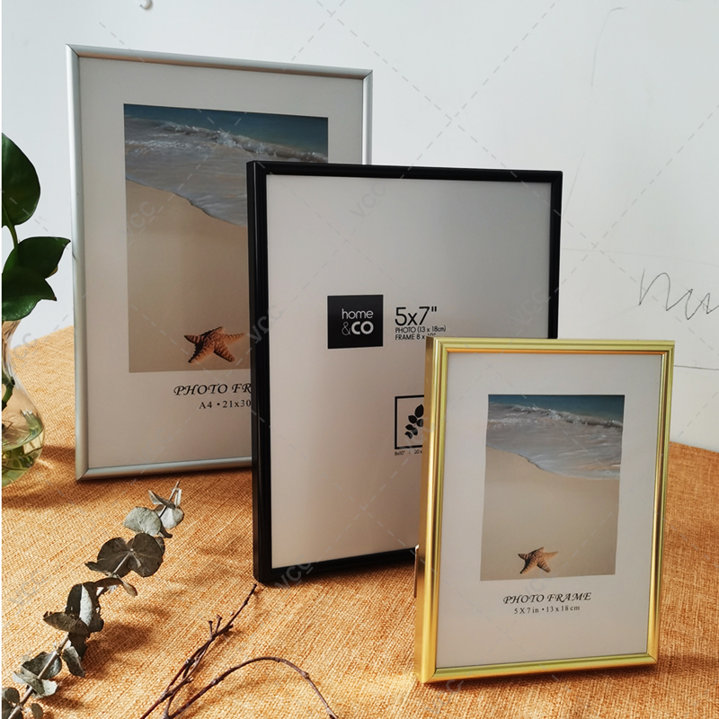 Aluminum Photo Frame For Wall Hanging With Plexiglass Metal Picture Frame For Pictures Poster Frame Classic Certificate Frame