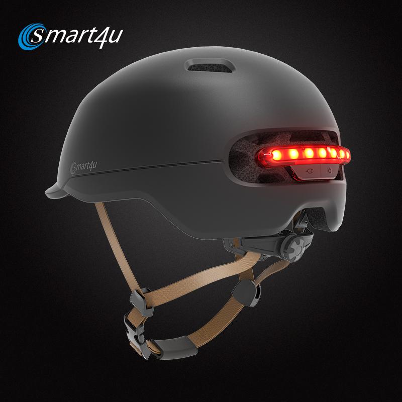 Smart4u City Urban Helmet Sport Adult Cycling Smart Signal Light CPSC/RoHS/EN1078/GB Certification Brake Sensor Lamp Weight 370g