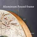 MEIAN Round Aluminum Frame For Canvas Painting Picture Provide DIY Wall Photo Frame Poster Frame Wall Art Craft Frame Art Hanger preview-2