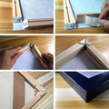 DIY Wood Frame For Stretched Canvas Paintings Ready To Hang On Wall Art Separate Frame For Posters And Prints Oil Painting preview-4