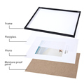 Aluminum Photo Frame For Wall Hanging With Plexiglass Metal Picture Frame For Pictures Poster Frame Classic Certificate Frame preview-5