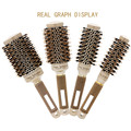 4 Sizes Professional Salon Styling Tools Round Hair Comb Hairdressing Curling Hair Brushes Comb Ceramic Iron Barrel Comb 20#826 preview-2
