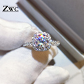 Fashion Luxury Crystal Engagement Ring for Women AAA White Cubic Zirconia Silver color Rings 2020 Wedding Trend Female Jewerly preview-3