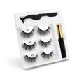 100 Pcs Eyelash Packaging Box Bulk Wholesale Custom 3D Mink Lashes Boxes Packaging With Logo Makeup Set Eyelashes Case Pack preview-5
