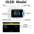 Finger Pulse Oximeter De Dedo Pulso Oximetro пульсоксим Oxymeter Pulsioximetro Medical Blood Oxygen Meter Heart Rate LED OLED preview-4