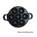 7-Hole Cake Cooking Pan Cast Iron Omelette Pan Non-Stick Cooking Pot Breakfast Egg Cooking Pie Cake Mold Kitchen Cookware Tool preview-5