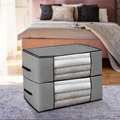 Thickened Non-woven Quilt Storage Bag Clothes Storage Box Travel Portable Storage Box Folding Closet Organizer ForPillow Blanket preview-2