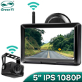 GreenYi 1080P Wireless IPS 5 Inch Car Monitor Rear View Reverse Camera Driving Kit with Stable Digital Signal Auto Parking preview-1