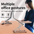 NEW MC N8 Adjustable Laptop Stand Aluminum for Macbook Tablet Notebook Stand Table Cooling Pad Foldable Laptop Holder preview-3