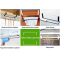 Kitchen Tissue Holder Hanging Bathroom Toilet Paper Towel Holder Rack Kitchen Roll Paper Holder Toilet Paper Stand Towel preview-5