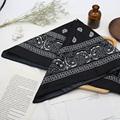 Bandana kerchief Unisex Hip Hop Black Hair Band Neck Scarf Sports Headwear Wrist Wraps Head Square Scarves Print Handkerchief preview-5