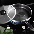 316/304 Stainless Steel Frying Pan High Quality Pan Fried Steak Non Stick Pan General Purpose Induction Cooker Honeycomb Wok preview-2
