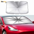Upgrade Foldable Car Sunshade Windshield Umbrella For Tesla Model 3 Model Y Model S Model X Front Window Sun Shade Screen preview-1