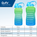 QuiFit 2L 3.8L One Gallon Water Bottle with Straw Motivational & Time Markings Drinking Jug BPA Free GYM Tritan Sports Jugs preview-5
