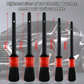 Detailing Brush Set Car Cleaning Brushes Power Scrubber Drill Brush For Car Leather Air Vents Rim Cleaning Dirt Dust Clean Tools preview-2