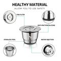 ICafilas Stainless Steel Reusable Capsules For coffee Maker  for Nespresso Machine Coffee Espresso For Coffee Maker preview-3
