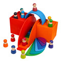 Baby Toys Large Rainbow Stacker Wooden Toys For Kids Creative Rainbow Building Blocks Montessori Educational Toy Children preview-3