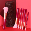 XINYAN Candy Makeup Brush Set Pink Blush Eyeshadow Concealer Lip Cosmetics Make up For Beginner Powder Foundation Beauty Tools preview-5