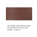 4*8INCH Self-Adhesive PU Leather Repair Patch  Paste Sofa Rectangular10*20CM Seat Bed Scrapbook Fabric Sticker Badge preview-6